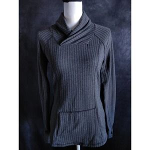 Maurices Inmotion Gray Cowl Neck Hoodie Sweater S